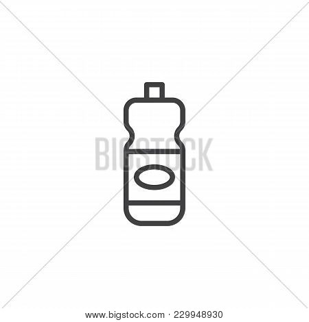 Detergent Bottle Outline Icon. Linear Style Sign For Mobile Concept And Web Design. Laundry Perfume