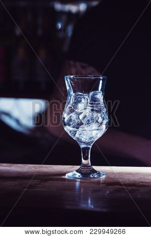 cubes of ice in glass