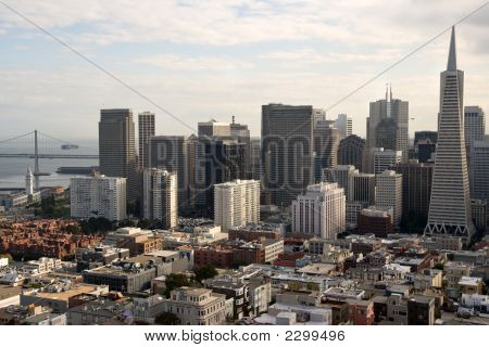 San Francisco as seen from Coit Tower on Telegraph Hill poster