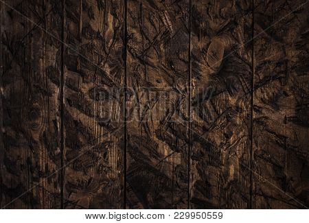 The Wooden Rugged Textured Old Brown Background