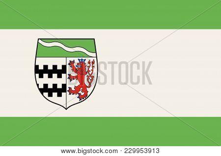 Flag Of Rheinisch-bergische Kreis Is A District In The Cologne Bonn Region Of North Rhine-westphalia