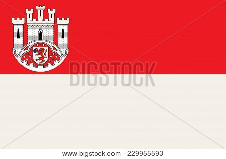 Flag Of Hennef Is A Town In The Rhein-sieg District Of North Rhine-westphalia, Germany. Vector Illus
