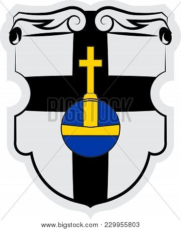 Coat Of Arms Of Meckenheim Is A Town In The Rhein-sieg District, In North Rhine-westphalia, Germany.