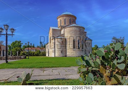 Piscunda, Abkhazia - October 4, 2014: Temple Of The Apostle Andrew.