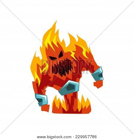 Fervillon Demonic Infernal Creature Character Vector Illustration Isolated On A White Background.