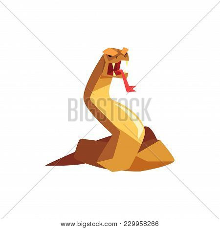 Fantasy Magical Beast Creature Character Vector Illustration Isolated On A White Background.