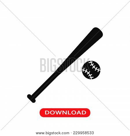 Baseball Ball Icon Vector In Modern Flat Style For Web, Graphic And Mobile Design. Baseball Ball Ico