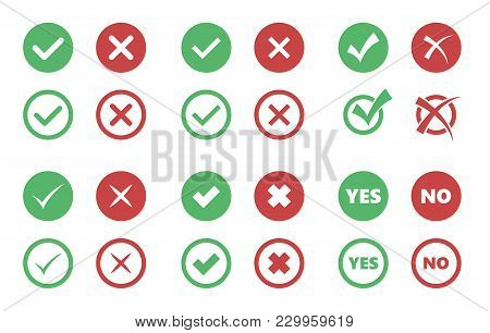 Check Box Icons, Tick And Cross Signs, Check Mark