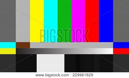 Color Bar For 16:9 Video Footage Background, Full Hd, 4k, 8k, Vector Illustration.