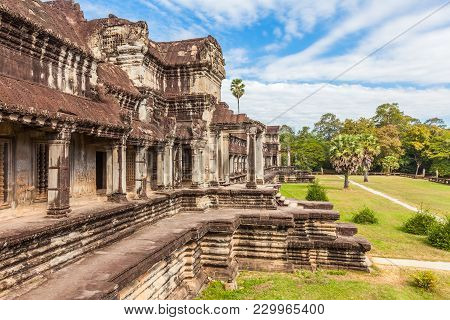Angkor Wat Ancient Khmer Temple Complex In Cambodia And The Largest Religious Monument In The World.