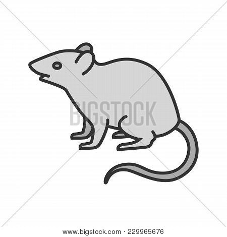Mouse, Rat Color Icon. Rodent. Pest. Isolated Vector Illustration