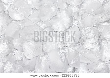 Crushed Ice Texture. Large Rough Ice Chunks