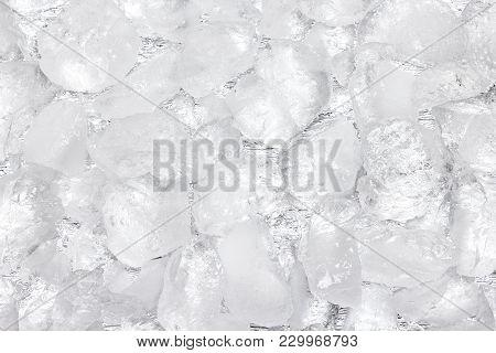 Crushed Ice Texture. Large Rough Ice Chunks