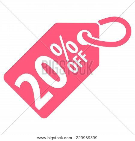 20 Percent Off Tag. Vector Illustration. Isolated On White