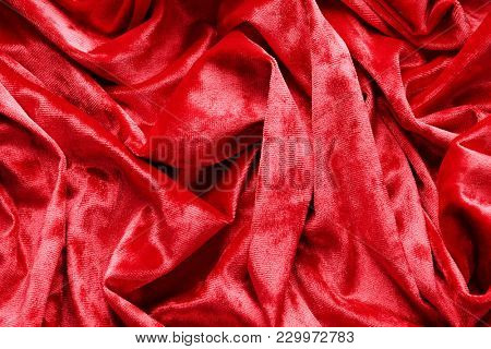 Soft red velvet as background