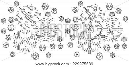 Easy Snowflake Maze For Younger Kids With A Solution In Black And White