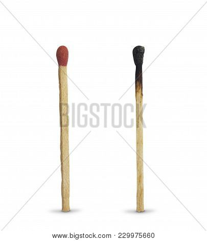 Match Isolated On White Background. Object Isolated