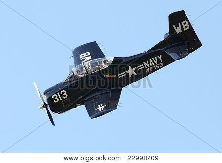 PILSEN, CZECH REPUBLIC - AUGUST 28: Historic american training plane T28 Trojan Air Bear, Pilsen Aeronautical Days on August 28, 2011 in Pilsen CZECH REPUBLIC.