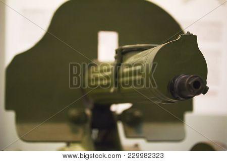 Machine Gun - Russian Weapon, Automatic Rifle, Close Up