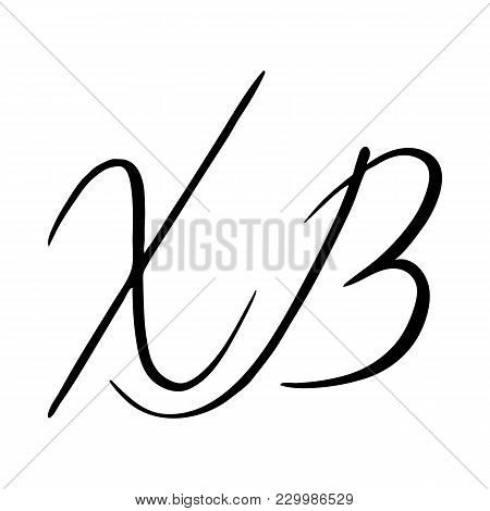 Russian Easter. Hand Lettering. Ink Pen. Vector Illustration With Russian Abbreviation Letters For C