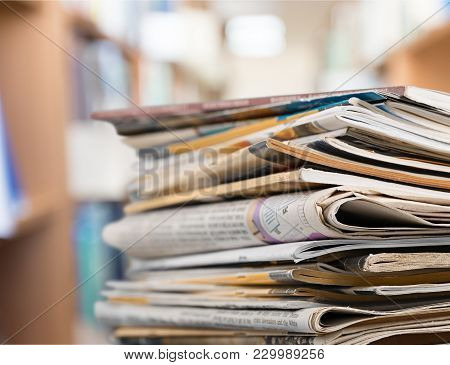 Stack Print Stacked Magazine Print Media Pile Of Newspapers Paper Stack