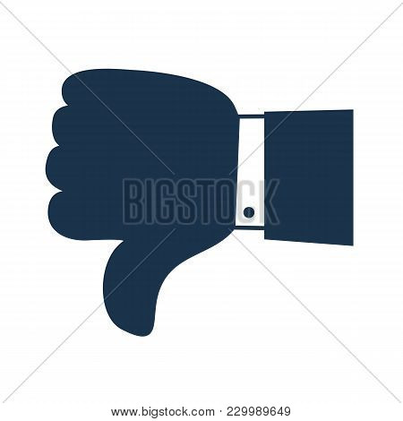 Thumbs down dislike, hate or thumbs down dislike for social networks, art icon for apps and websites. Bad choice sign. Voting. Disapproval isolated vector icon poster