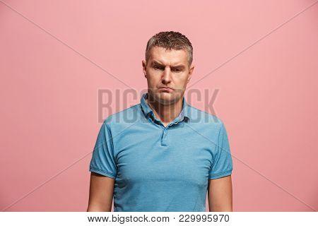 Suspicion. Doubt, Mistrust, Distrust Concept. Doubtful Man Looking With Disbelief Expression . Young