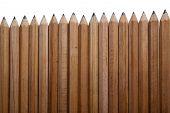 Number of pencils on a white background poster