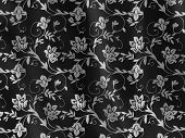 Black Floral pattern fabric texture moving in the wind poster
