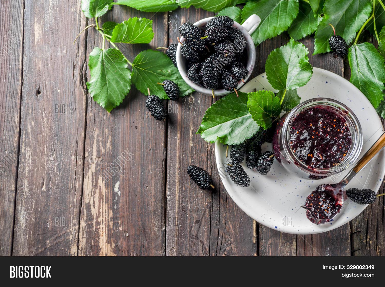 Mulberry Chutney Jam Image Photo
