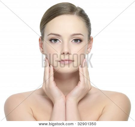 Portrait Of Teen With Clean Skin