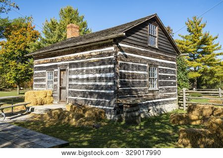 Generic Old Wooden Cabin In A Rural Setting