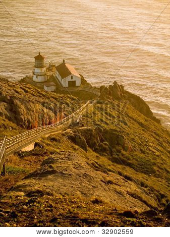 Point Reyes Lighthouse At Sunset