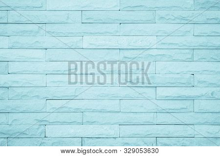 Seamless Blue Pattern Of Decorative Brick Sandstone Wall Surface With Concrete Of Modern Style Desig