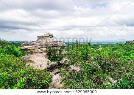 Stone Shapes Strange. Pa Hin Ngam National Park In Province Chaiyaphum Thailand.