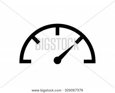 Speedometer Icon Vector Isolated Design Element. Speed Indicator Sign. Internet Speed. Car Speedomet