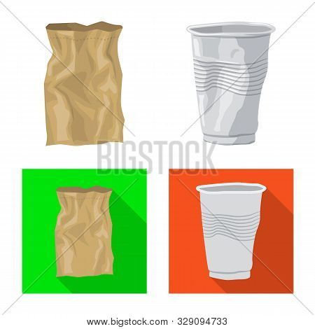 Vector Illustration Of Refuse And Junk Icon. Collection Of Refuse And Waste Stock Vector Illustratio