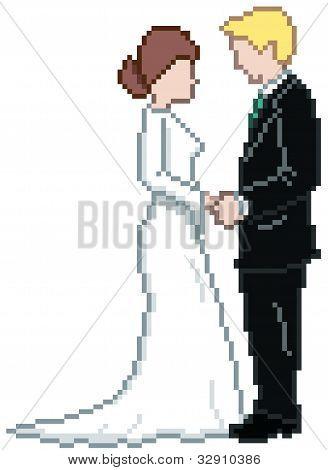 Pixel Wedding Couple