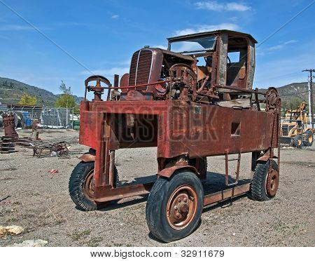 Transportador de madeira antigo