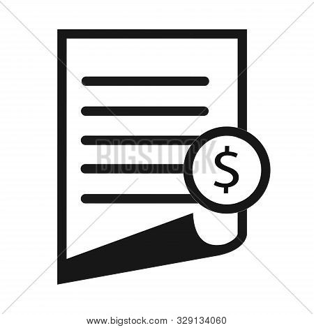 Invoice Line Icon. Payment And Bill Invoice. Order Symbol Concept. Tax Sign Design. Paper Bank Docum
