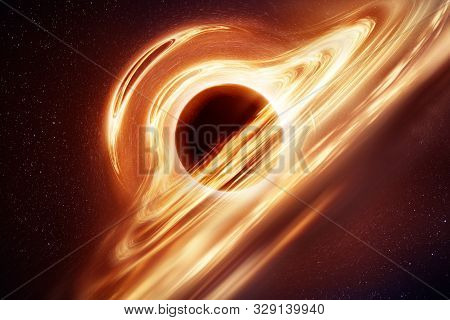 An Illustration Of What A Black Hole With An Accretion Disk May Look Like Based On Modern Understand