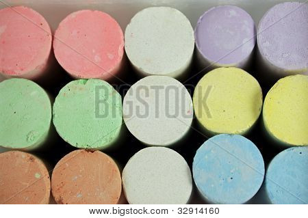 Colorful Chalk Crayon