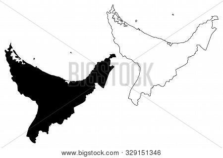 Bay Of Plenty Region (regions Of New Zealand, North Island) Map Vector Illustration, Scribble Sketch