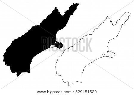 Canterbury Region (regions Of New Zealand, South Island) Map Vector Illustration, Scribble Sketch Ca