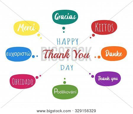 Vector Concept Or Conceptual Abstract Thank You Word Cloud In Different Languages Or Multilingual Fo