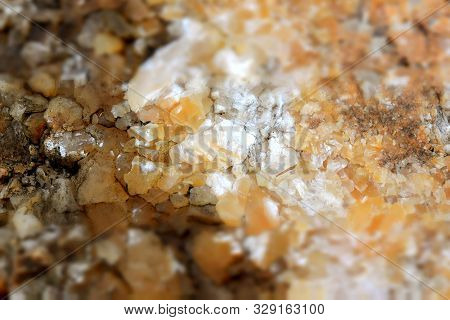 Honey-colored Quartz Druse In The Mountains Of Southern Cambodia, Kampong Trach