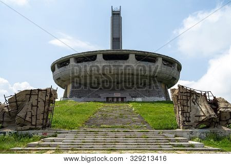 Buzludzha, Bulgaria - July 07, 2019: The Monument House Of The Bulgarian Communist Party On The Buzl