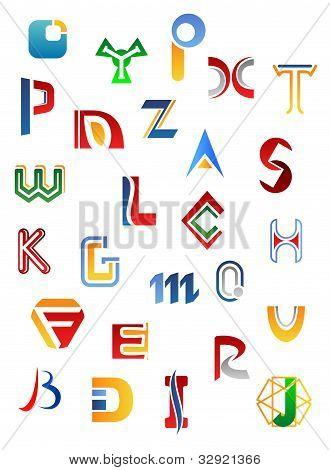 Set Of Alphabet Symbols And Letters