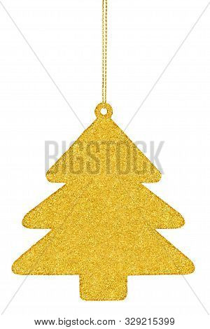 Glistening Christmas Tree Isolated On White Background