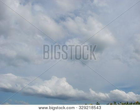 Clouds Bright Blue Summer Sky Cloudscape Nature Background